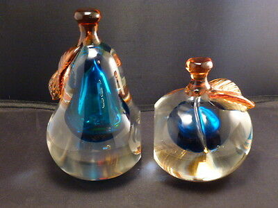 "Stunning Pair Of ""Barbini"" Murano Art Glass Figural Fruit Bookends 2"
