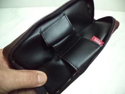 Borsa Portapipa Per 1 Pipa + Accessori  Atomic Bag Pipe  Similpelle Marrone  New 3