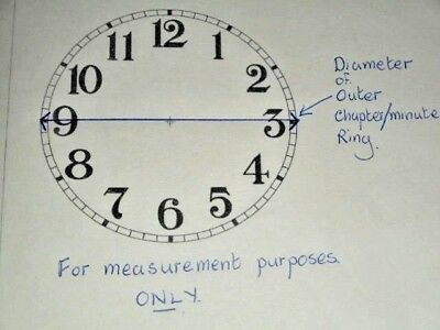 "Steeple Paper (Card) Clock Dial- 4 1/4"" M/T - Roman - MATT CREAM - Parts/Spares 4"