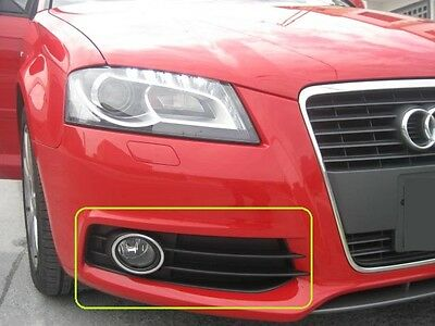AUDI NEW GENUINE S3 8P 08-12 O//S RIGHT BUMPER FOG LIGHT CHROME GRILL 8P0807682G