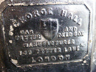 Antique metal deed box by George Hall Fetter Lane London 4
