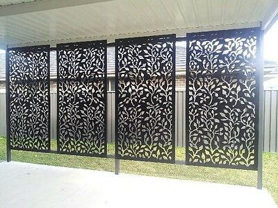 Laser Cut Metal Decorative Screen Vines 1200 X 600