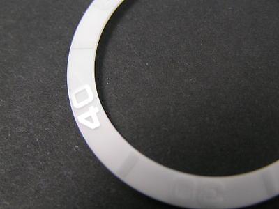 ALL WHITE CERAMIC Bezel Insert For Rolex Submariner 16610, 16800, 16803,  16808