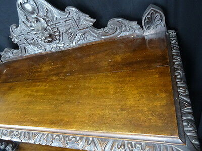 Large Finest Antique 19th Century Carved Kings Black Forest Oak Buffet Sideboard 6