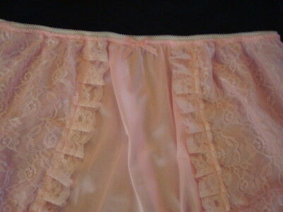 nel-jen Handmade Sissy ALL PINK TRICOT and LACE High Waist  Panties 3