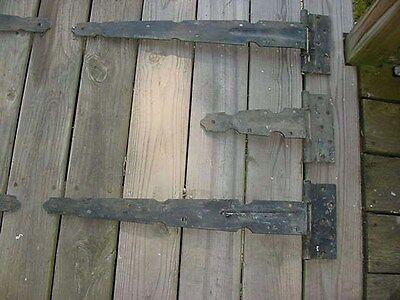 1920's Full Set Antique Gothic Steel Carriage Barn Garage Door 6 Stanley Hinges 5
