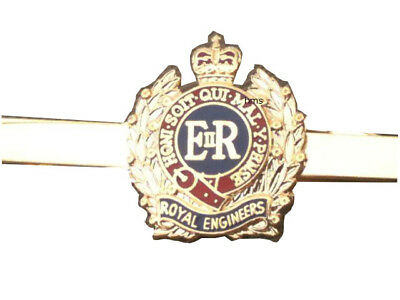 Royal Corps of Engineers Tie & Tie Clip Set e025