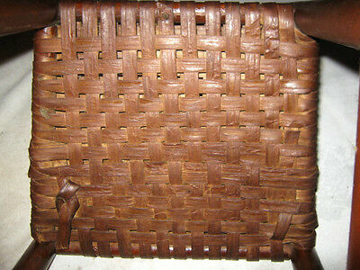 Antique Child Wood Primitive Country Farm Rocking Chair Toy Doll Splint Folk Art 6