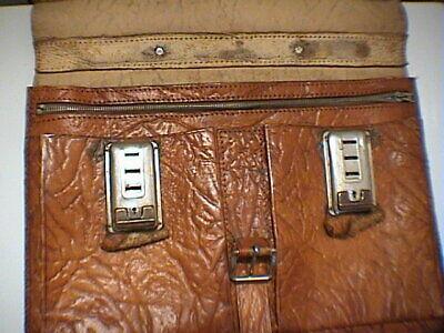 1717/  Leder Aktentasche Tasche Antik Vintage Accessoires 6
