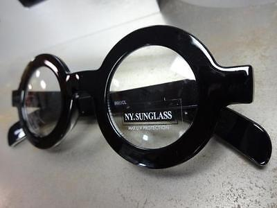 e377122685 ... Men s VINTAGE RETRO Style Clear Lens EYE GLASSES Thick Round Black  Fashion Frame 8