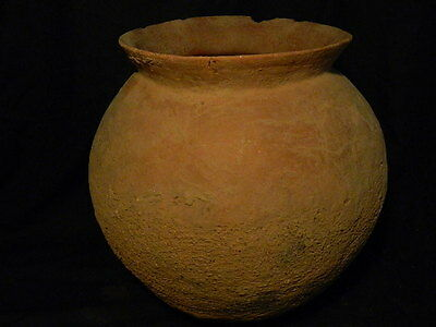 Ancient Huge Size Teracotta Anthropomorphic Funerary Pot Indus Valley 1500 BC 6