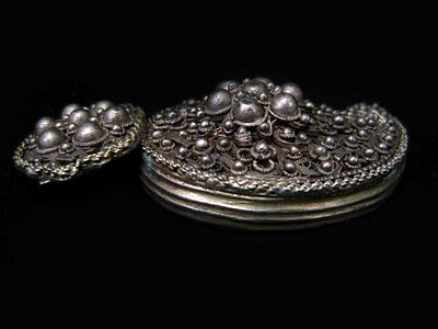 EXTREMELY RARE BREATH-TAKING ANTIQUE 1800's SILVER FILIGREE BUCKLE!!! 2