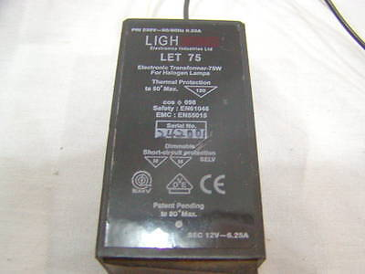 **240 volt** LET 75 240V//12V AC Lightech Transformer 75W Halogen dim