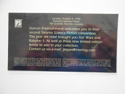 Babylon 5 TV show Starcon rare limited issued card (only in Canada) 1998