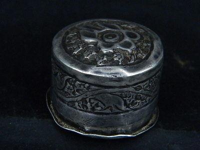 Antique Kashmiri Silver Box   #SG5958 2