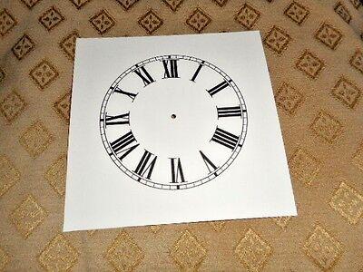 "Mantle/Shelf Paper (Card) Clock Dial - 3 3/4"" M/T - Roman - Cream -Faces/Spares 2"