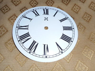 """Round HAC Paper (Card) Clock Dial - 5"""" M/T -  Roman-GLOSS WHITE - Parts/Spares 3"""