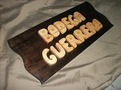LETRERO de madera personalizado, ROTULACIÓN artesanal 5