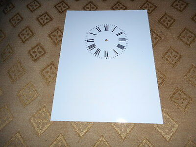 """Carriage Clock Paper (Card) Dial - 2 1/2"""" M/T-High Gloss White -  Parts/Spares 3"""