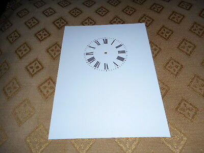 "Carriage Clock Paper Dial -  1"" (M/T)- High Gloss White- Face / Clock Parts"