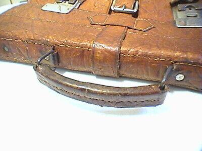 1717/  Leder Aktentasche Tasche Antik Vintage Accessoires 4