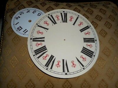 "Round Vienna Style Paper Clock Dial - 8"" M/T - GLOSS CREAM-Face/ Parts /Spares 3"