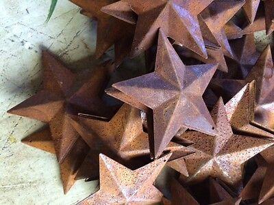 "50 Dimensional Rusty Barn Stars 2.25 in 2 1/4"" Primitive Metal Rust 57mm Craft * 4"