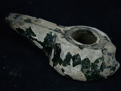 Ancient Glazad Ceramic Oil Lamp Islamic 1000 AD  #S3587 2