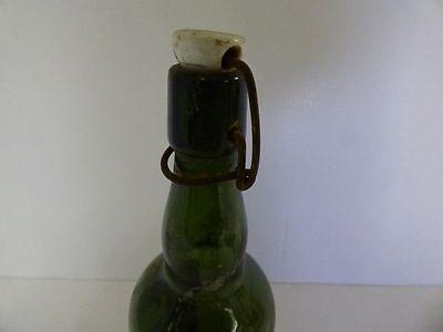 alte Glasflasche Spiritus Brennspiritus ohne Dichtung gr Flasche DEKO Shabby (7) 3