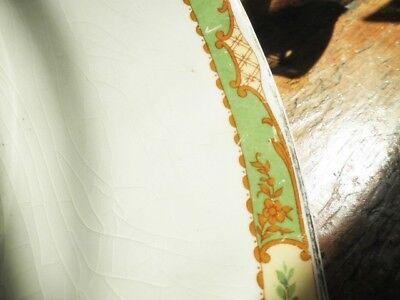 Vintage Platter Green Floral Edge Jg Meakin 40.5Cm Meat Turkey Platter Xmas 6
