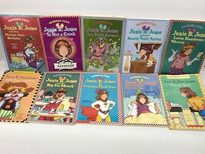 10 Pack Bundle Of Junie B Jones Home school Library Children's Chapter 4