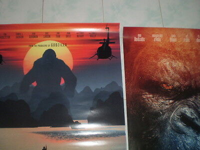Kong Skull Movie Island Poster 27x40 Original Theater 2017 S D Sided Exclusive 3