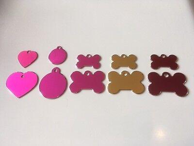 Engraved Cat/Dog/Pet ID NAME tag (Hi-line) BONE/DISC/HEART Variations.... 3