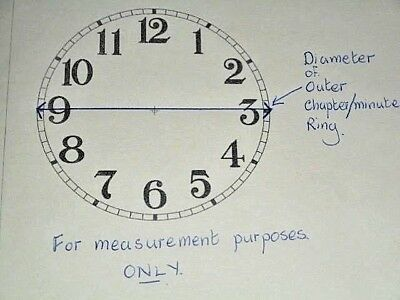 """Carriage Clock (Card) Paper Dial - 1 1/4"""" (M/T) - High Gloss White-Clock Parts 4"""