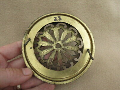 Antique German Pierced Brass Clock Back To Fit An Aperture 10.7 Cm (Lot 23) 3
