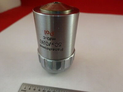 Microscope Pièce Objective Aus Jena Allemand 50X Pol Planachro Optiques Tel Quel 2