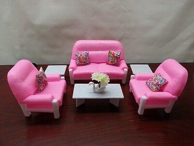 GLORIA, BARBIE DOLL House Furniture,Kitchen,Dining,Entertainment ...