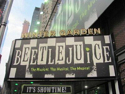 BEETLEJUICE Playbill HALLOWEEN OCTOBER Musical NEW YORK BROADWAY ALEX BRIGHTMAN 5