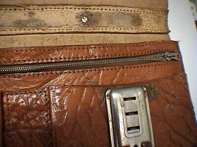 1717/  Leder Aktentasche Tasche Antik Vintage Accessoires 7