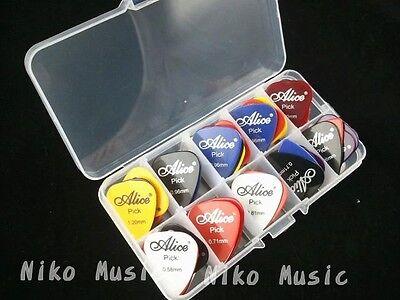 50pcs Acoustic Electric Guitar Picks Plectrums+1 Plastic Picks Box Case 3