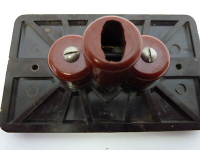 Bakelite Outlet Cover One Piece Unit Brown 6