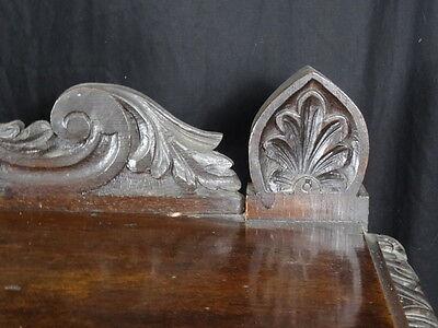 Magnificent Gothic Large Antique Carved Black Forest Oak 3 Tier Dumb Waiter