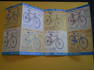 Vintage Collectable Schwinn 1962 Color Full Line Bicycle Literature Catalog