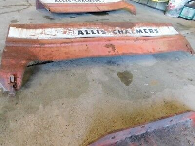 Allis Chalmers D19 diesel tractor right side hood Part #70236598 Tag #367 5