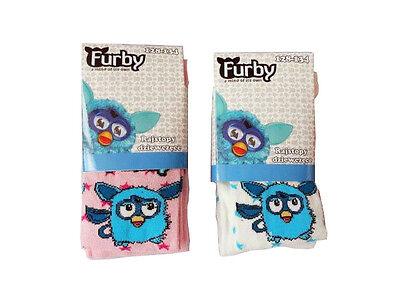 Furby 2 Stück Kinder Mädchen Hose Strumpfhose weiß pink 104-110 116-122 128-134 2