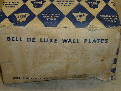 Nos! (2) Bell Interchange Single Gang Wall Plate, 1-Hole Horizontal, 17-1-Ivory 2