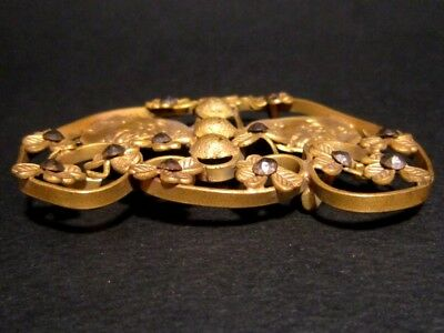Beautiful Vintage Compact Bronze Gilt Buckle, Ancient Coins Replicas!!! 4