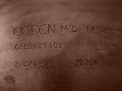 NOS OGDEN MIGHTY-MISER CERAMIC 240/480V BAND HEATER #CBE062X40X,6