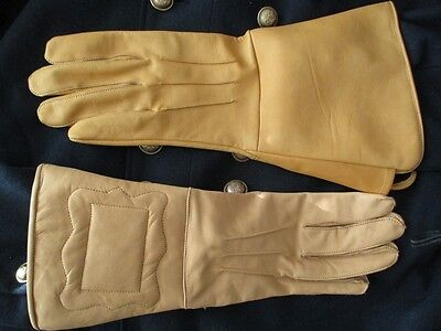 Expanded Cuff for Artillery-Cavalry Civil War Leather Gauntlets Gloves