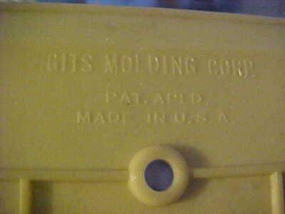 5 NOS Vintage GITS Molding Art Deco Ivory Bakelite LUMINOUS Gang Switch Plates 3